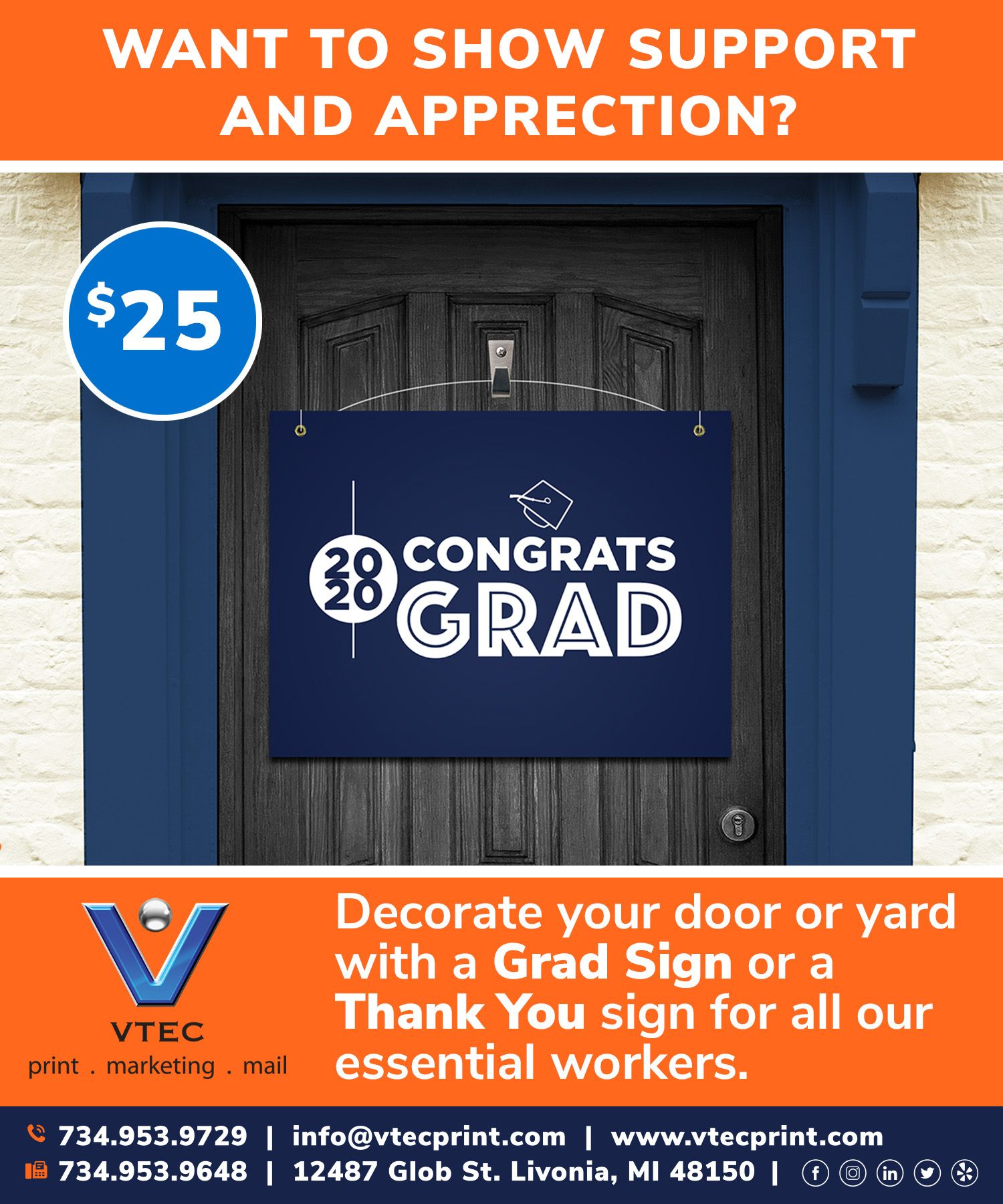 Graduation Door Signs