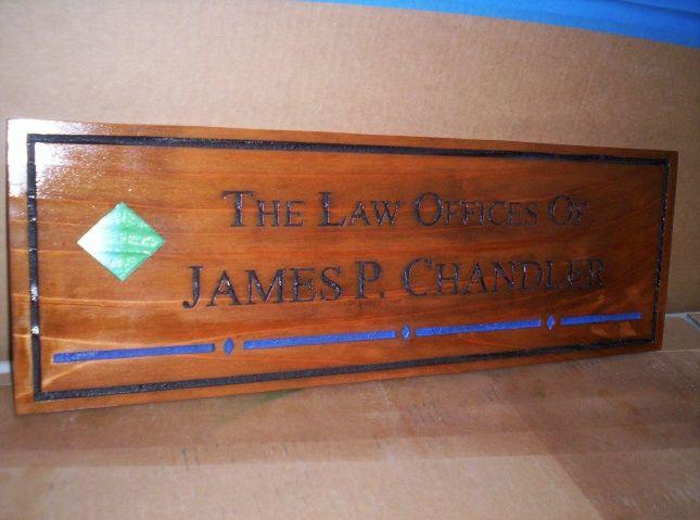 A10410 - Engraved Attorney Cedar Plaque