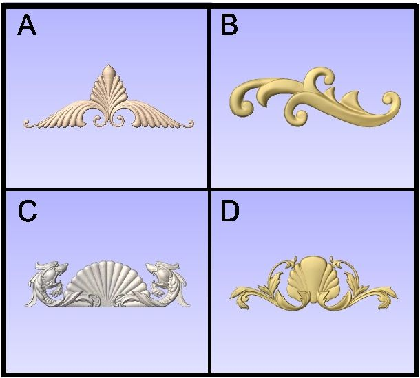 T29901 - Carved Ornamental Flourishes
