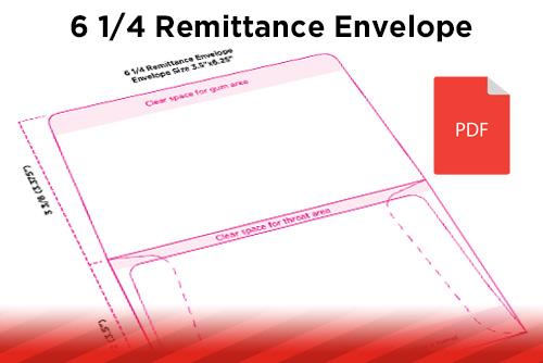 Designing For Print Remittance Envelopes - Remit envelope template