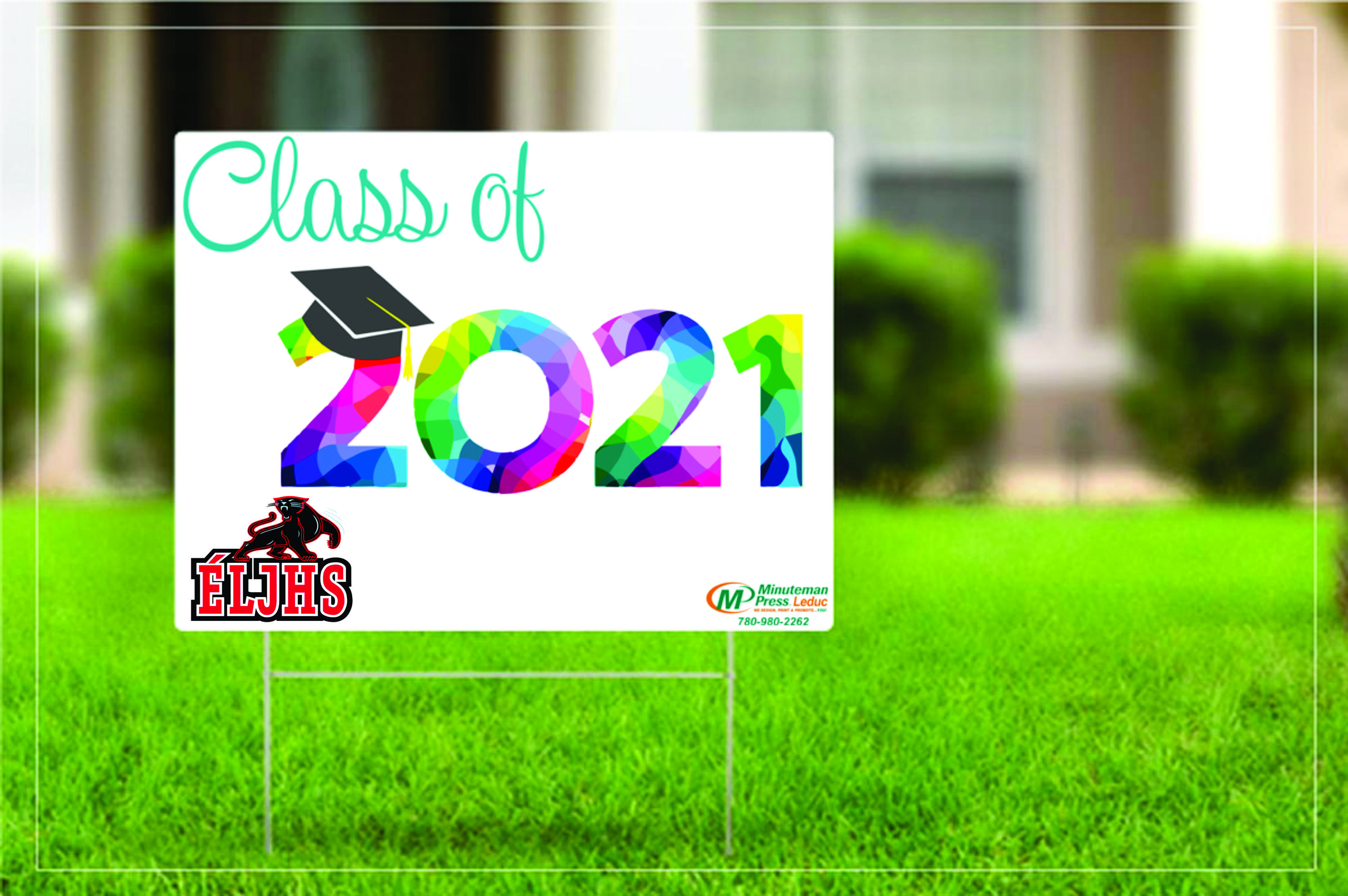 Yard sign - Class of 2021 ELJHS - Can be personalized