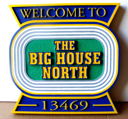 V31534 -Air Force Big House Welcome and Address Plaque