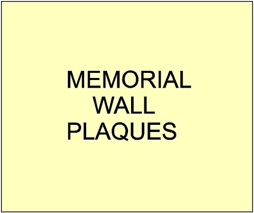 3. - GC16500 - Memorial Wall Signs and Plaques