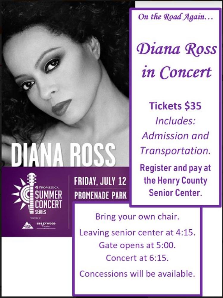 July 12 Diana Ross at Promenade Park
