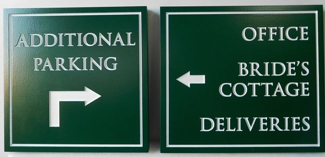 T29461 - Engraved HDU Parking and Wayfinding Signs for Hotel