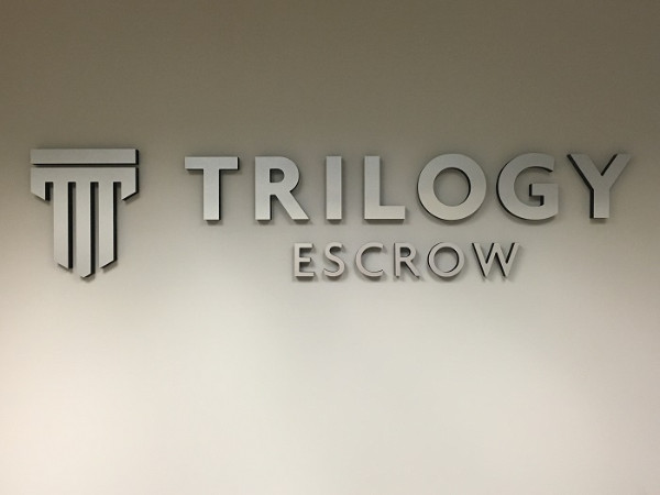 Professional lobby signs for title companies in Orange County CA