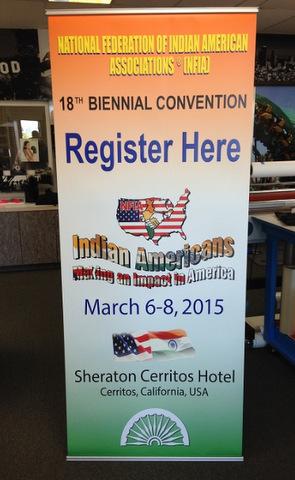 Retractable banner stands Orange County