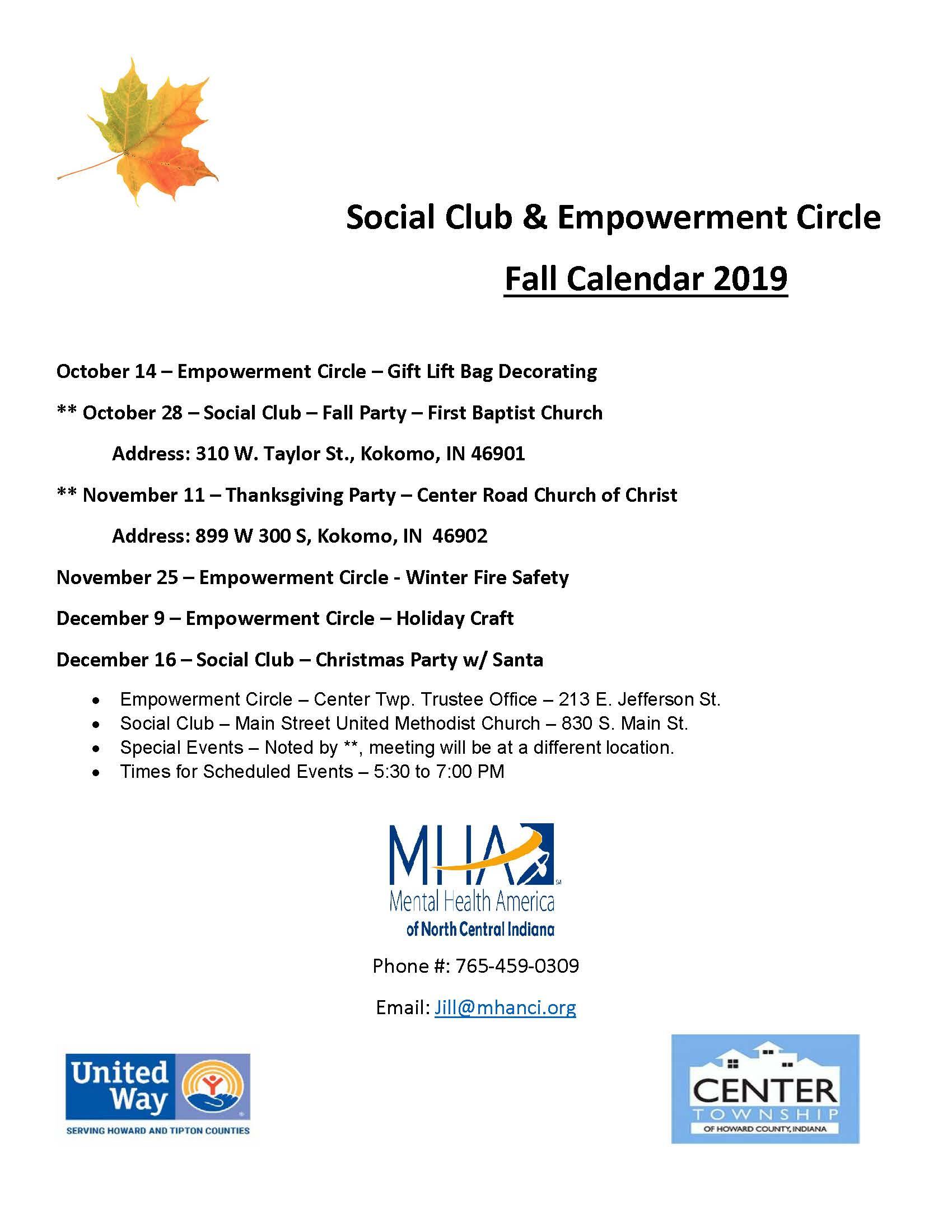 Social Club - Fall Party