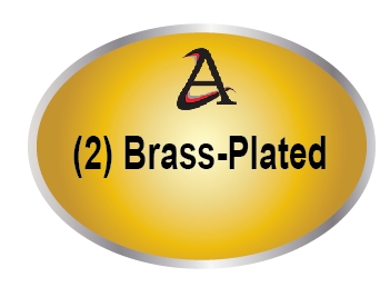 M7100 - (2). Brass-Plated Plaques