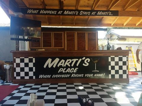 Commercial vinyl bar wraps Orange County