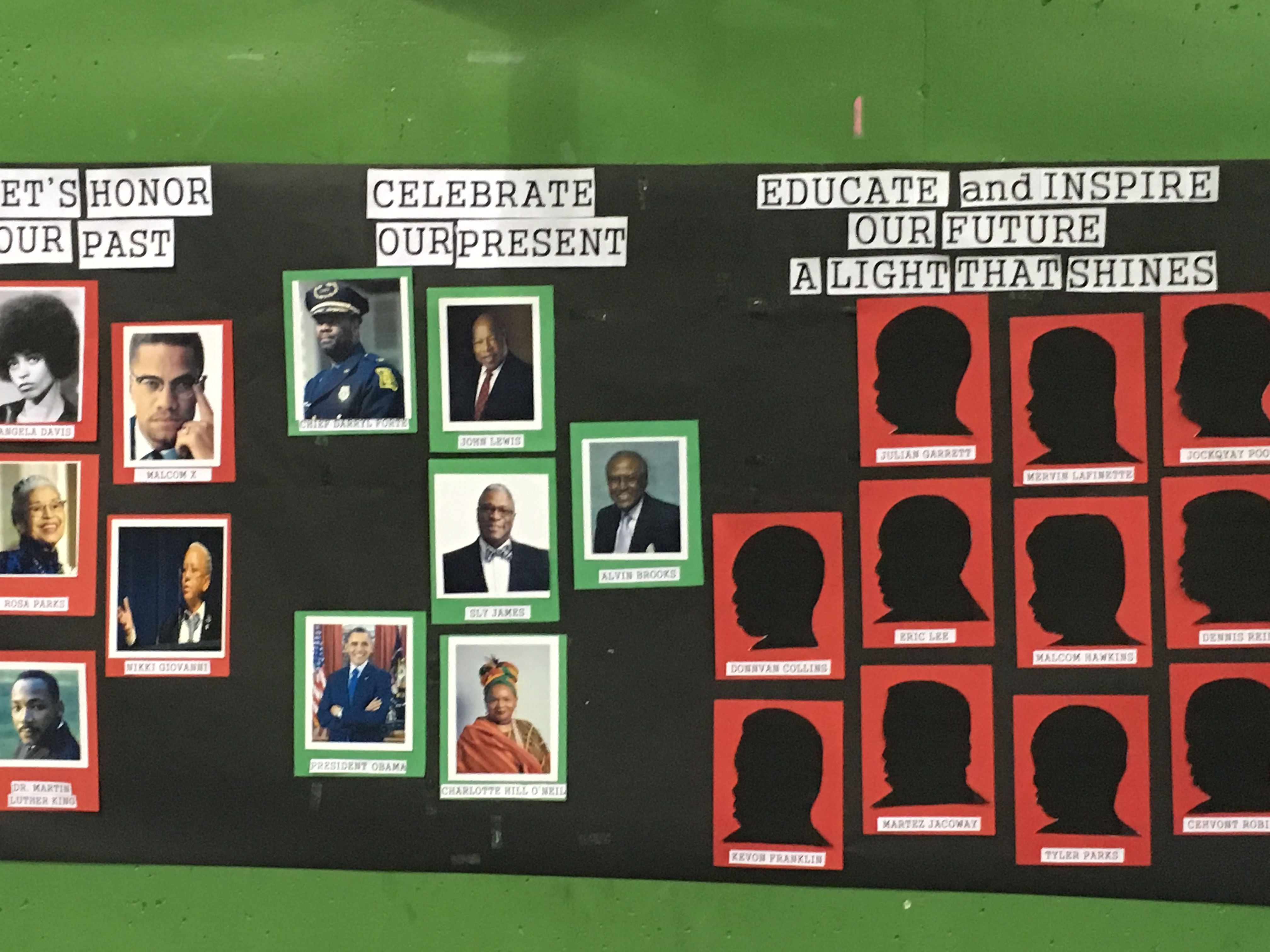Niles Prep Teachers, Students Decorated Gym for BHM