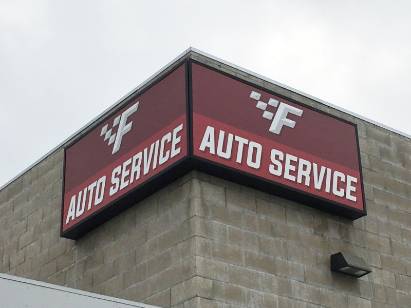 Auto Service Center Signs and Graphics Fullerton CA