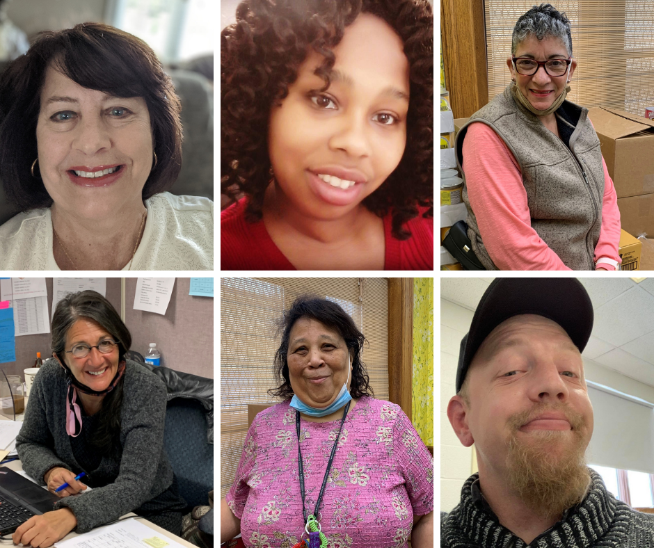 Collage-style photo showing 7 department staff.