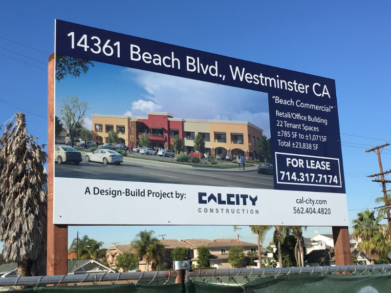 Commercial Property For Lease Signs for Construction Companies