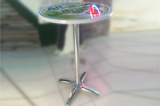 Cocktail Table With Logo