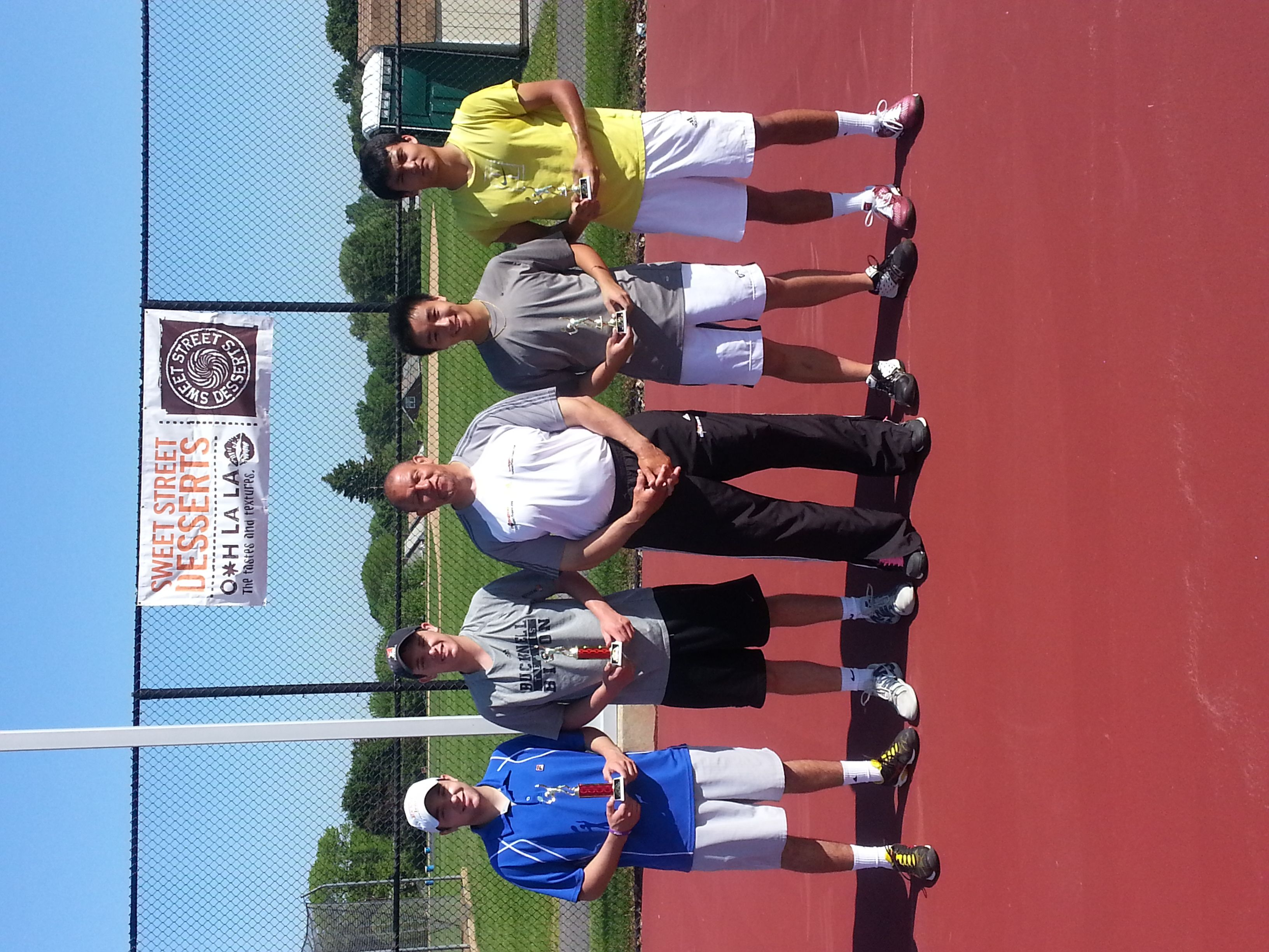 Muhlenberg Level 5 Tennis Tournament Doubles Lieb Brothers Champions and Runner-up