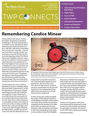 Cover image of Spring 2017 newsletter