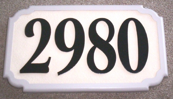 T29208- Carved  Wood Grain High-Density-Urethane (HDU) Room Number Plaque with Raised  Numbers