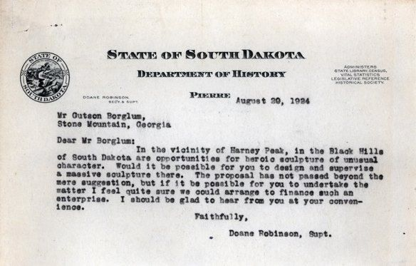 Robinson/Borglum correspondence on display at Cultural Heritage Center
