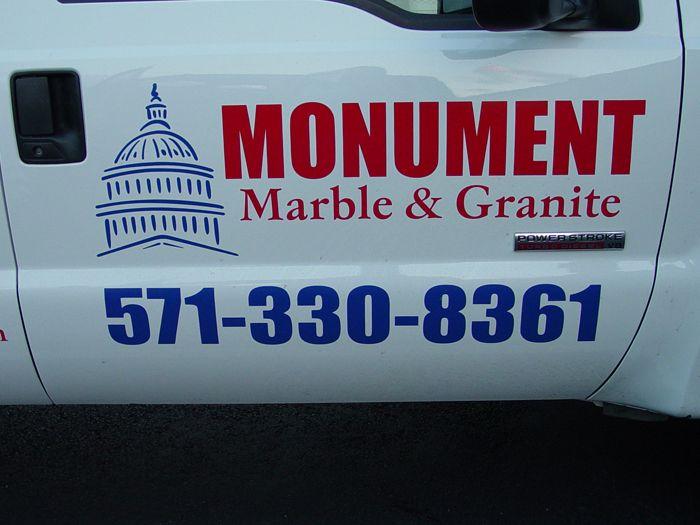 Monument Truck Lettering