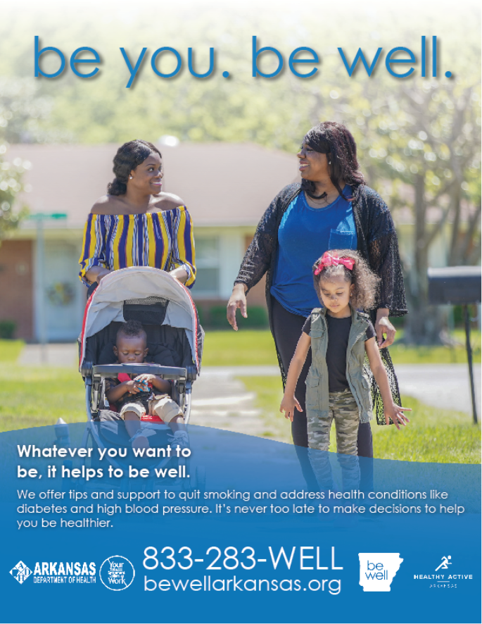 Be Well Moms Walking Poster