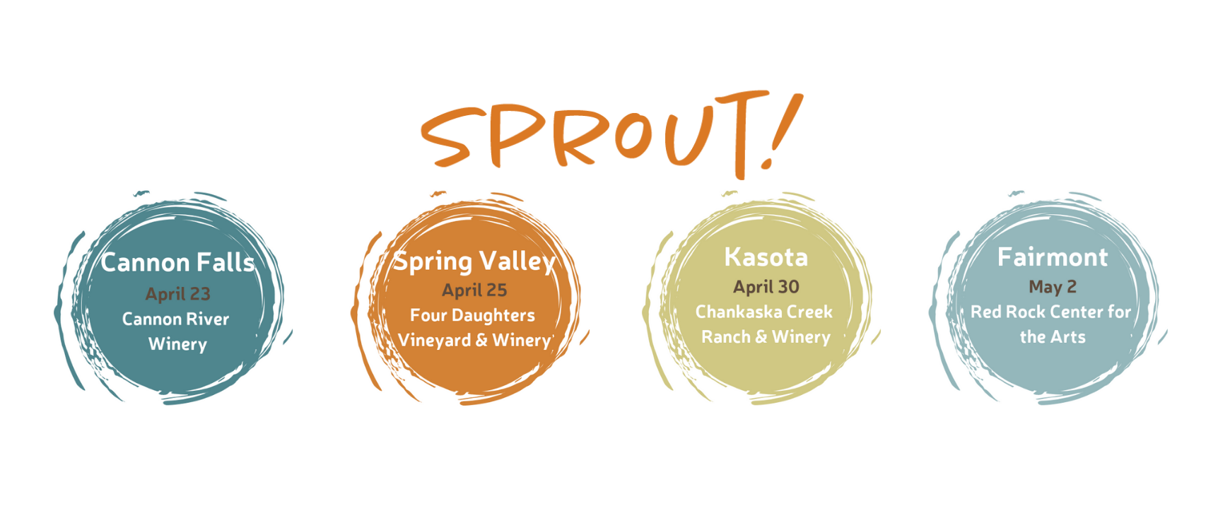 Join us at our new Sprout events!