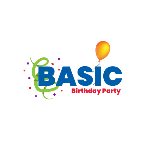 Basic birthday party logo