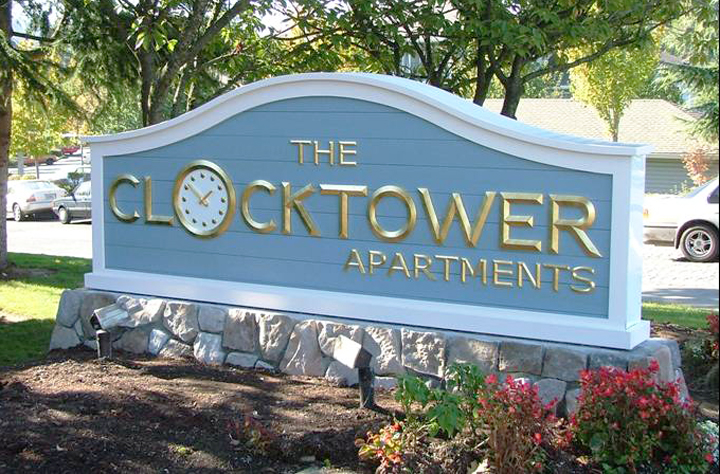 The Clocktower Monument Sign
