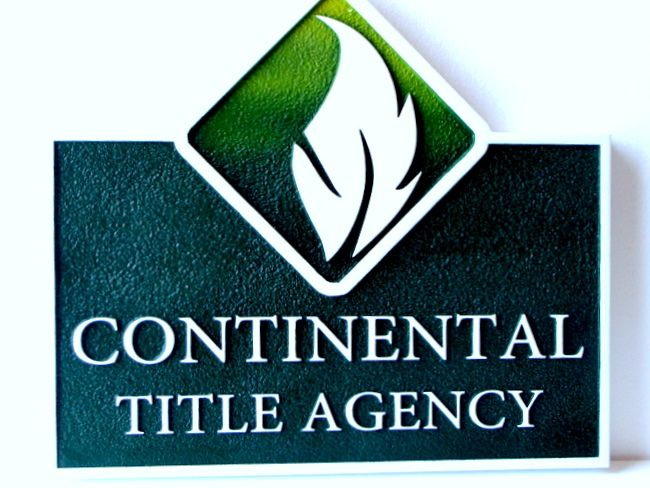 C12309 - Large Outdoor Sandblasted Sign for Continental Title Agency