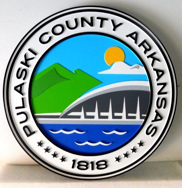 CB5200 - Seal of Pulaski County, Arkansas, Multi-level Relief