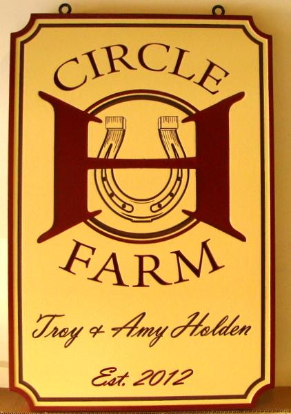 P25348 - Circle H Horse Farm Sign