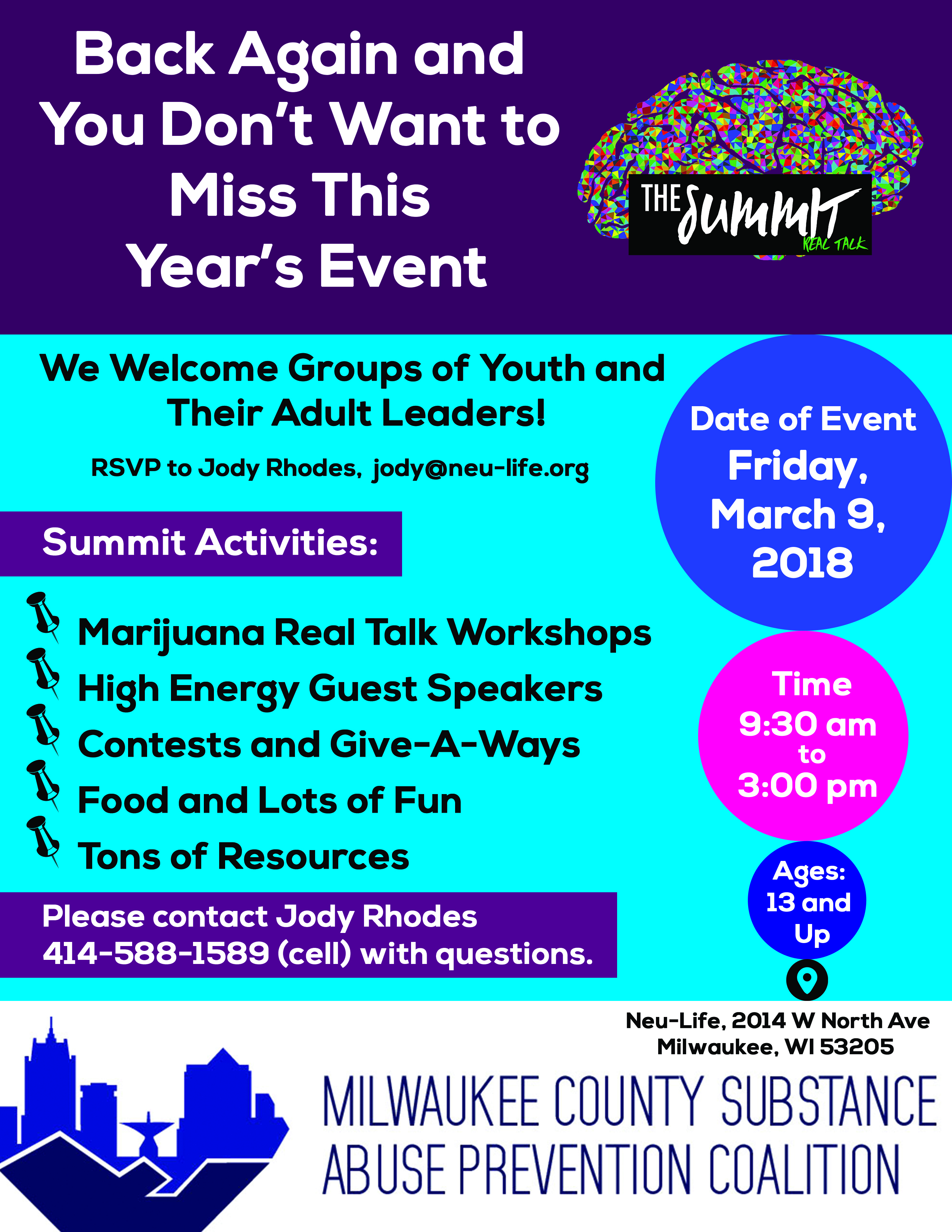 Second Annual MCSAP Youth Summit Will Provide Real Talk about Marijuana