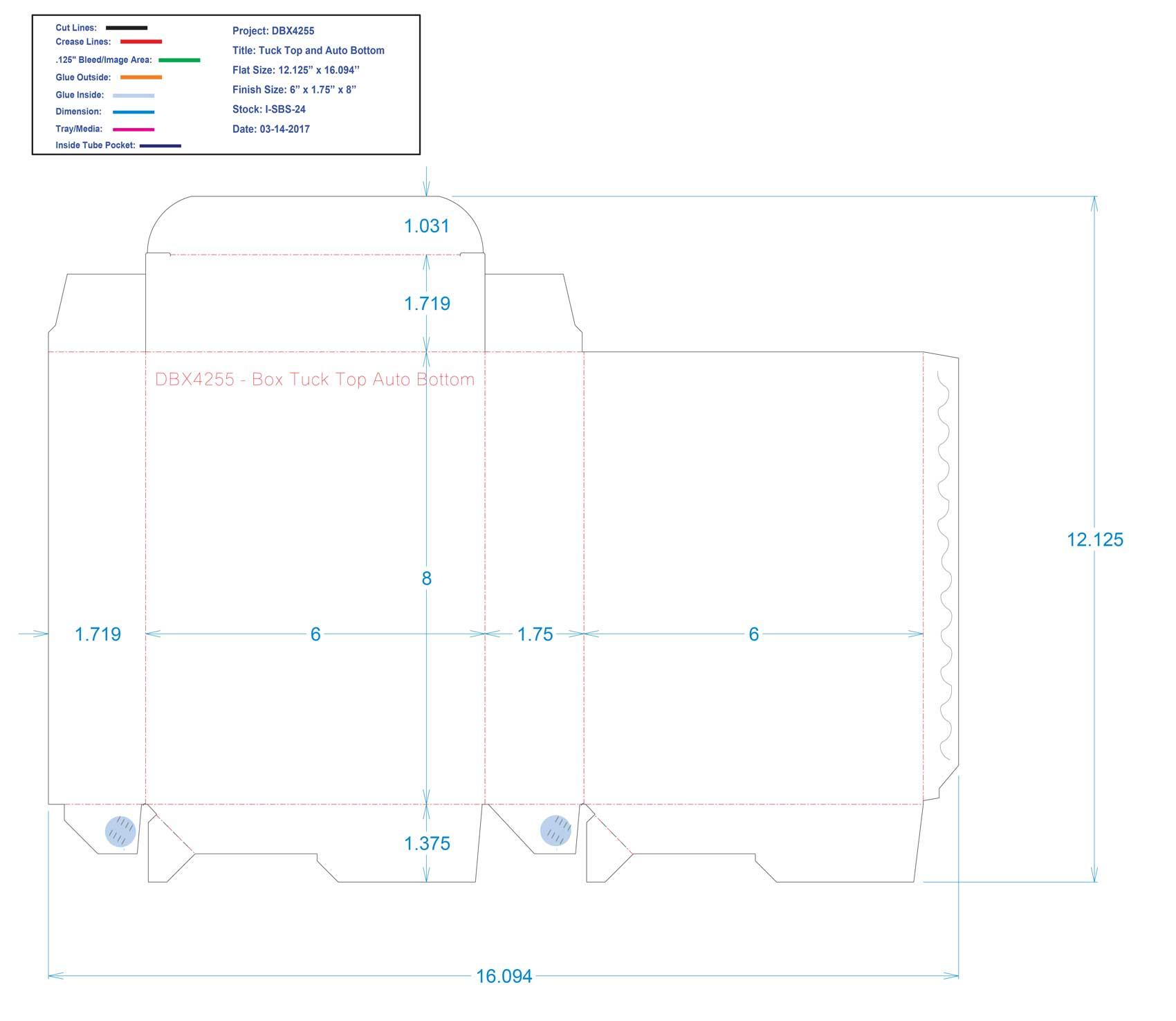 DBX4255- Box Tuck Top Auto Bottom