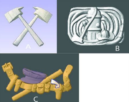 X33910 - 3-D Carved Appliques that can be mounted on Fire Department and Police Wall Plaques