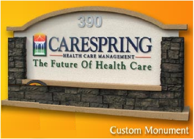 M6740 - Custom Health Care Monument Sign