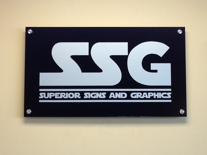 Black Aluminum Lobby Sign
