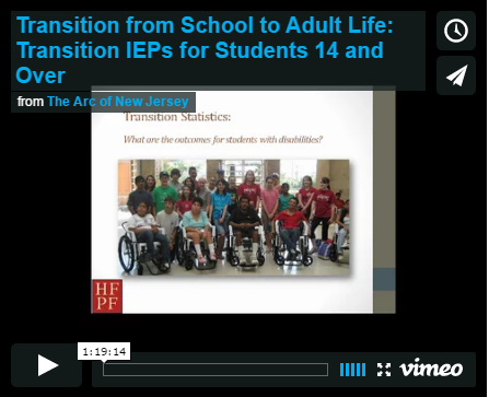 Transition from School to Adult Life: Transition IEPs for Students 14 and Over
