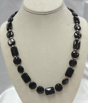 SD Chic Beads-Hypersthere Black Luster Marble