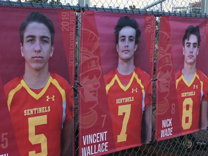 Vinyl fence banners for school athletes