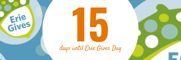 July 29, 2019 Erie Gives email reminder: 15 days until Erie Gives 2019!