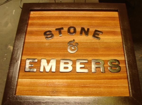 Q25028 - Carved Cedar Wood Restaurant Sign with Raised Letters