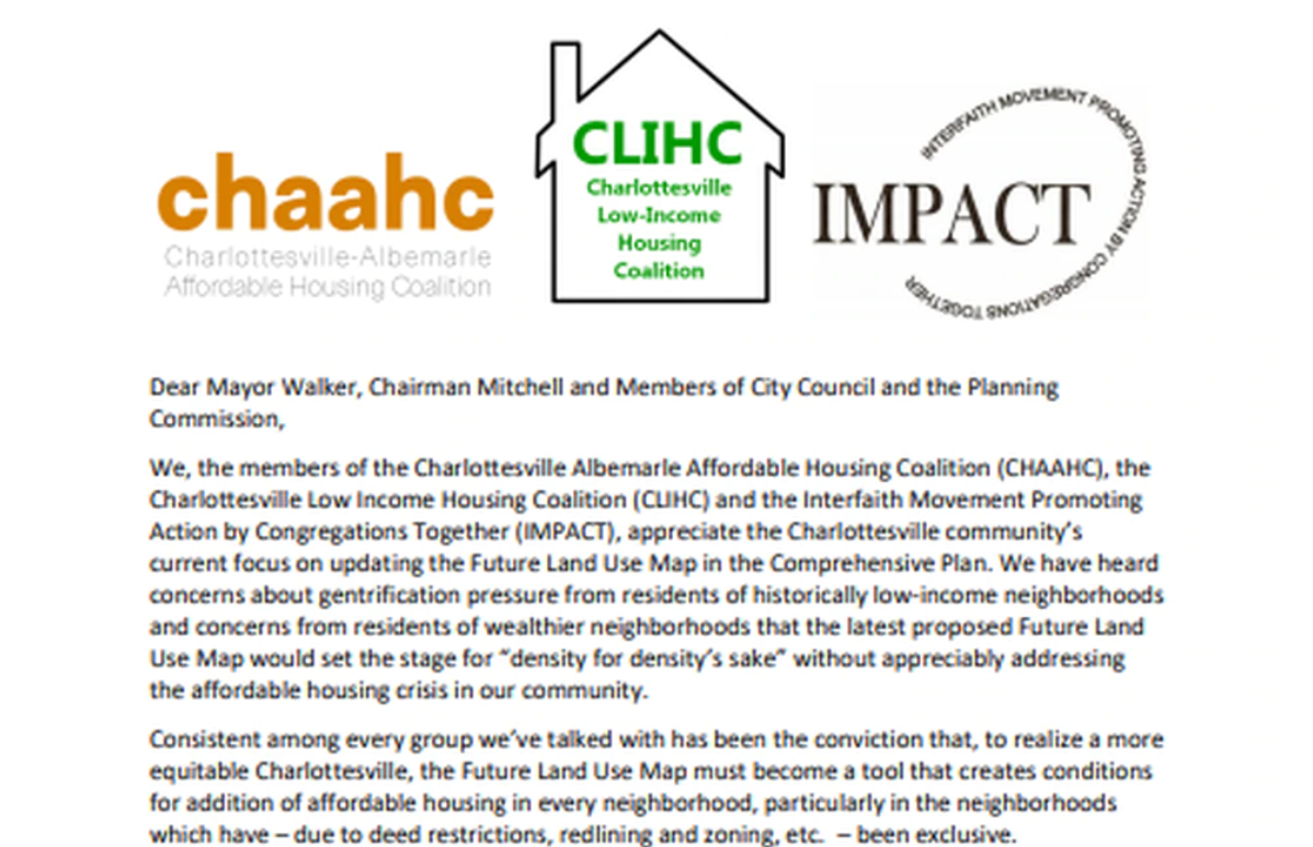 Charlottesville organizations call for changes to proposed Future Land Use Map