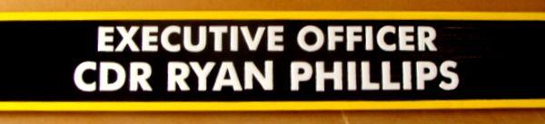 V31392B - Engraved Nameplate for  a US Navy  Commander