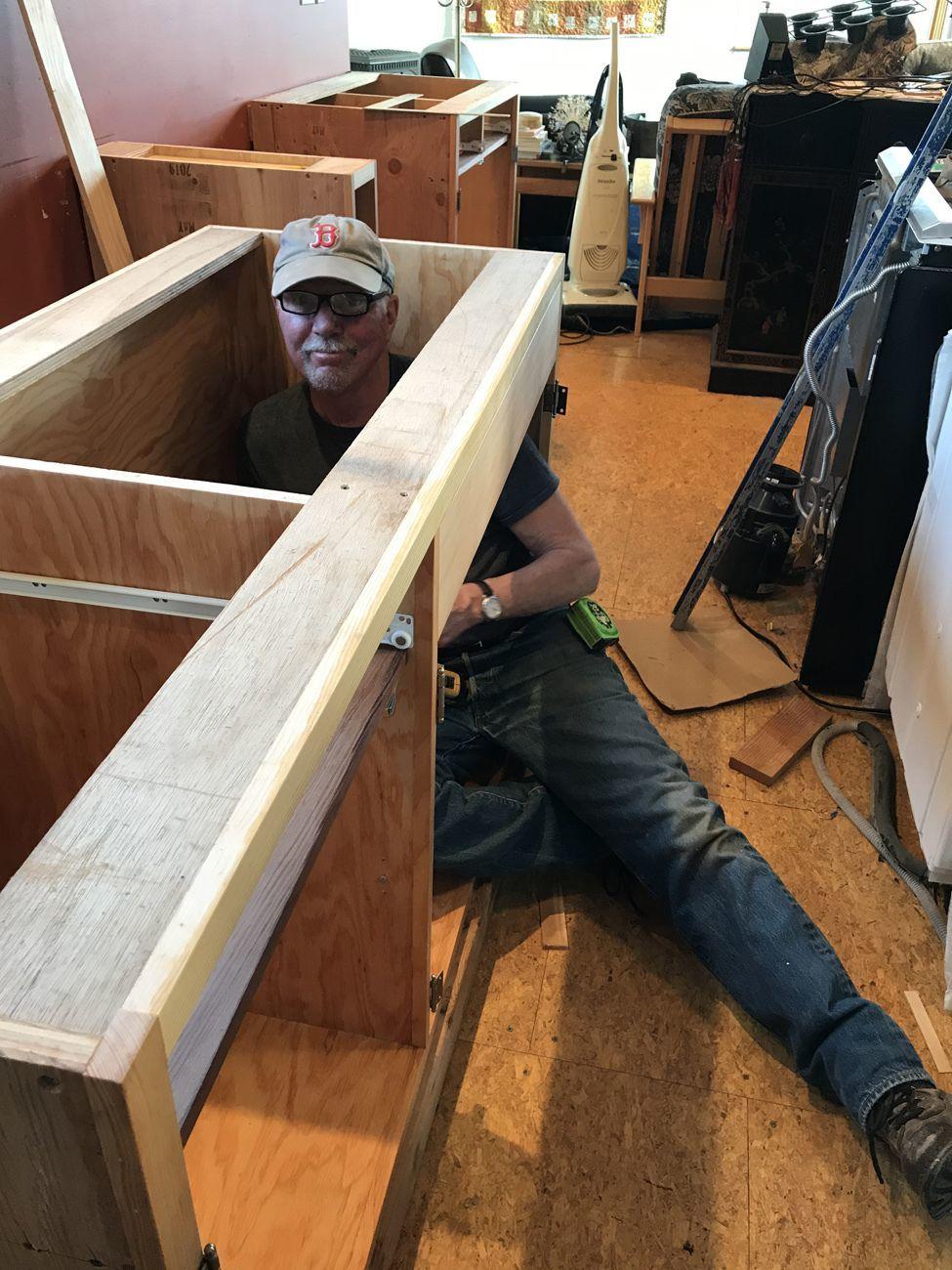 Phil Smart building a cabinet
