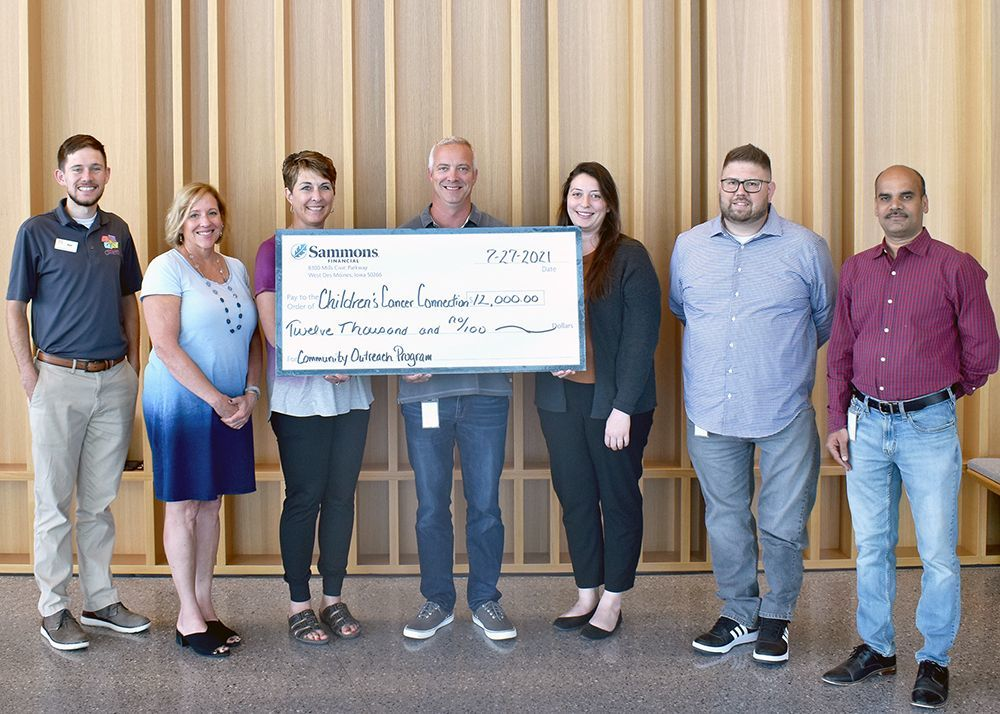 Sammons Financial Group's Community Outreach Program Selects Children's Cancer Connection for $12,000 Donation