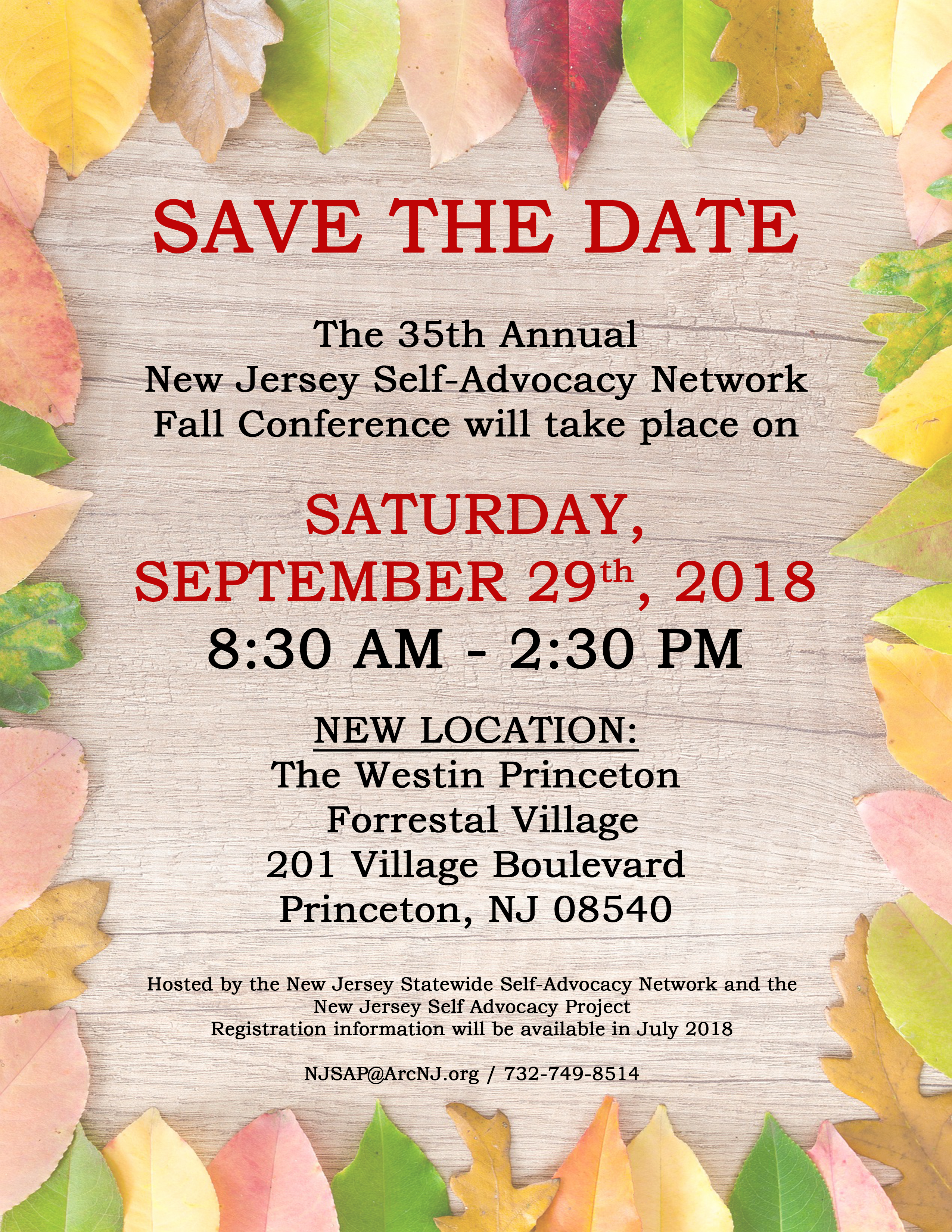 2018 Fall Conference Save the Date