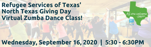 RST's Welcoming Week + North Texas Giving Day Zumba Dance Class!