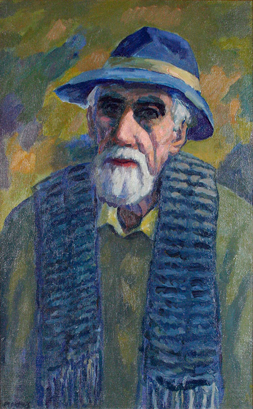 Self Portrait in Winter, oil on canvas