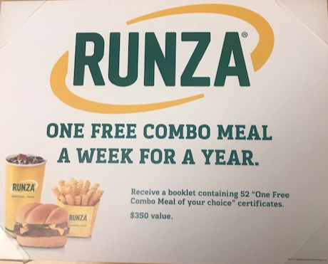 Donated by Runza