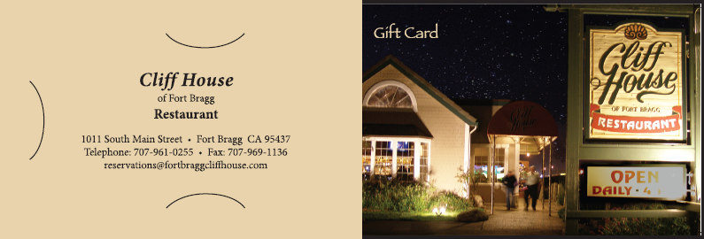 Cliff House Gift Card Carrier 1